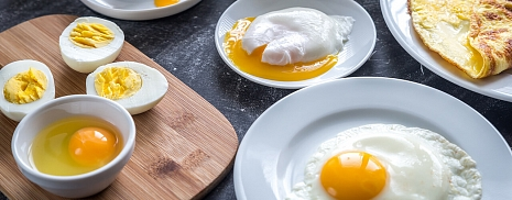 How to cook soft-boiled, hard-boiled and eggs on touch?